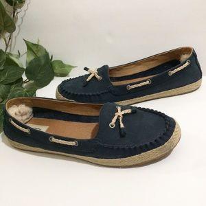 UGG Blue Loafer Boat Shoes Sz 12